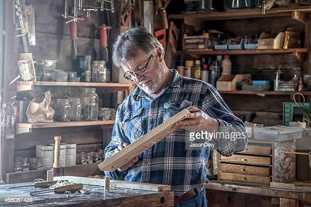 woodworking craftsman - hobby's stockfoto's en -beelden