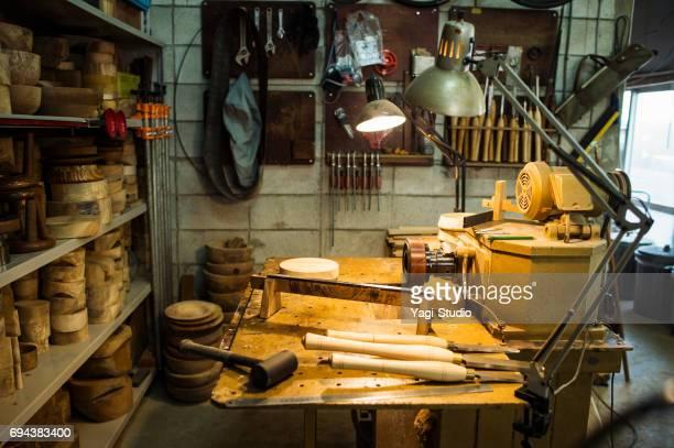 Woodworking craftsmen's workplace