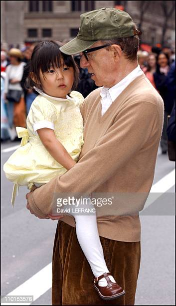 Woody Allen and his daughter at the Easter Parade in New York City United States on March 31 2002