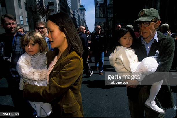 Woody Allen and his wife SoonYi with their children walking through Fifth Avenue during the annual Easter Day Parade Photo by Mark Peterson/Corbis...