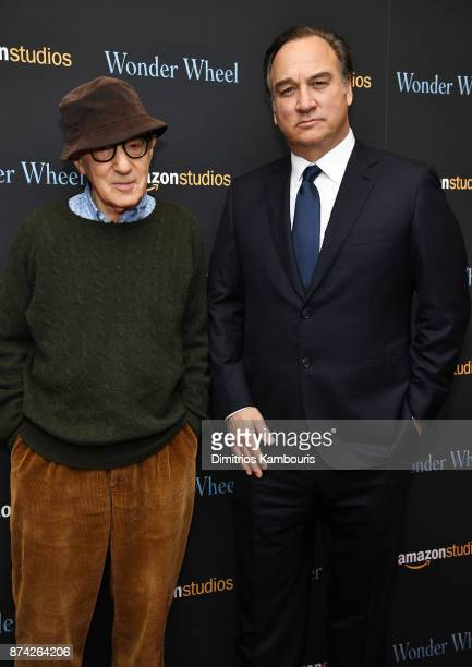 Woody Allen and Jim Belushi attend the 'Wonder Wheel' screening at Museum of Modern Art on November 14 2017 in New York City