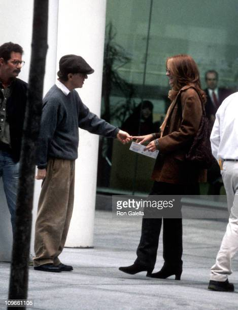 Woody Allen and Julia Roberts during Julia Roberts on Location for Woody Allen's 'Everyone Says I Love You' October 8 1995 at 6th Avenue and 56th...