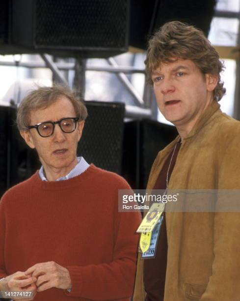 Woody Allen and Kenneth Branagh at the On the Set of Woody Allen's 'Celebrity' Atrium Studio New York City