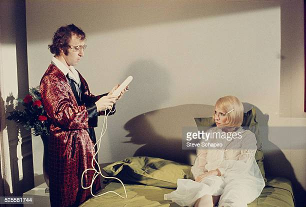 Woody Allen and Louise Lasser play with a vibrator in a scene from Everything You Wanted to Know About Sex But Were Afraid to Ask