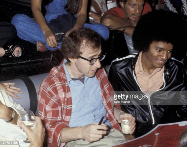 Woody Allen and Michael Jackson at the Studio 54 in New York City New York