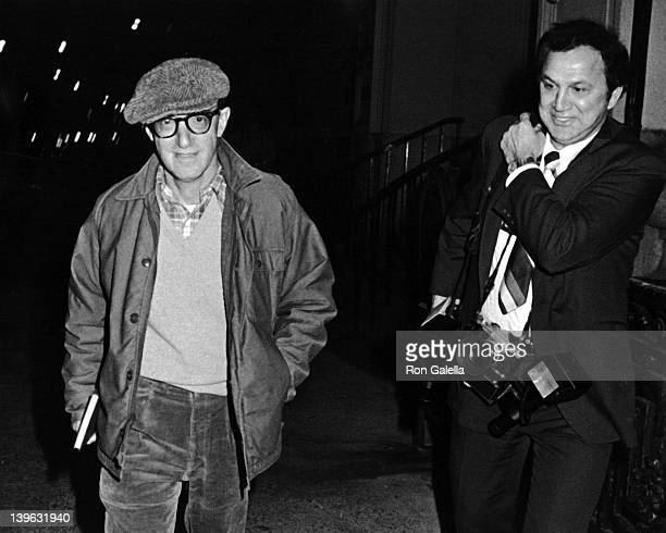 Woody Allen and Ron Galella sighted on November 11 1981 at Mia Farrow's apartment in New York City