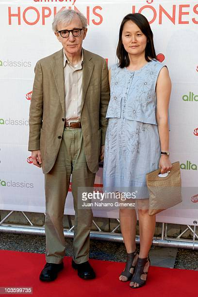 Woody Allen and Soon Yi attend 'You Will a Tall Dark Stranger' premiere at Casa de la Cultura on August 24 2010 in Aviles Spain