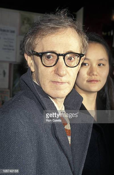 """Woody Allen and Soon Yi Previn during """"Everyone Says I Love You"""" New York City Premiere at Ziegfeld Theater in New York City, New York, United States."""
