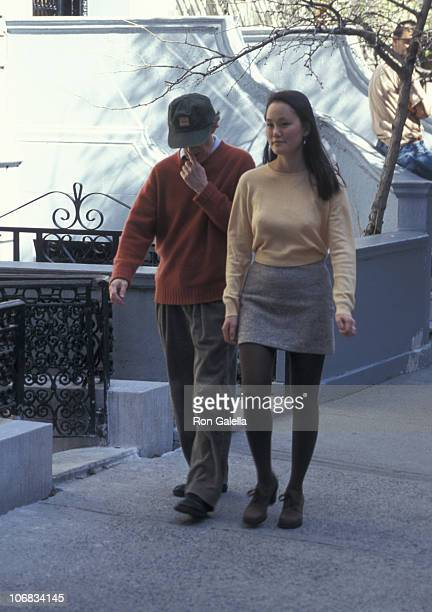 Woody Allen and Soon Yi Previn during Woody Allen and Soon-Yi Previn Sighting on Madison Ave. In New York City - April 7, 1997 at Madison Avenue in...