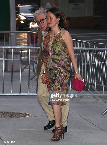 Woody Allen and SoonYi Previn attend Alec Baldwin and Hilaria Thomas' wedding reception held atop New York University's Kimmel Center on June 30 2012...