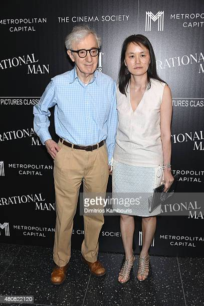 """Woody Allen and Soon-Yi Previn attend Sony Pictures Classics """"Irrational Man"""" premiere hosted by Fiji Water, Metropolitan Capital Bank and The Cinema..."""