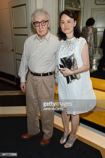 """Woody Allen and Soon-Yi Previn attend the after party for the """"Cafe Society"""" premiere hosted by Amazon & Lionsgate with The Cinema Society at The..."""