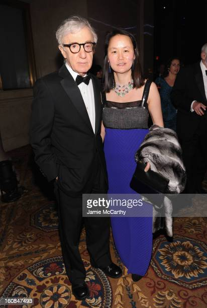 Woody Allen and Soon-Yi Previn attend the amfAR New York Gala to kick off Fall 2013 Fashion Week at Cipriani Wall Street on February 6, 2013 in New...