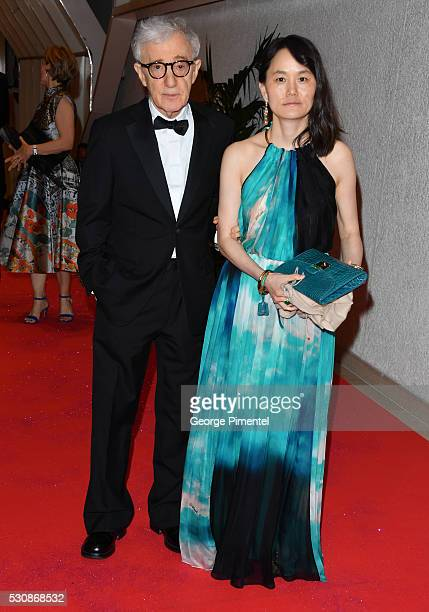 Woody Allen and Soon-Yi Previn attend the opening gala dinner during the annual 69th Cannes Film Festival at Palais des Festivals on May 11, 2016 in...