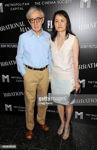 """Woody Allen and Soon-Yi Previn attend the screening of Sony Pictures Classics' """"Irrational Man"""" hosted by The Cinema Society with FIJI Water &..."""
