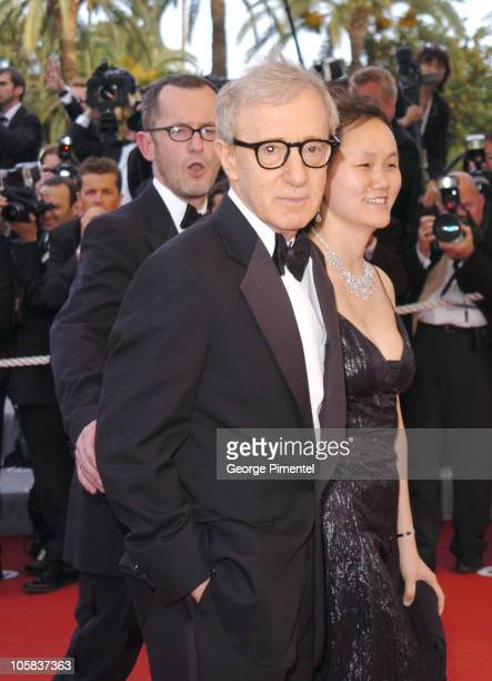 """Woody Allen and Soon-Yi Previn during 2005 Cannes Film Festival - """"Match Point"""" - Premiere in Cannes, France."""