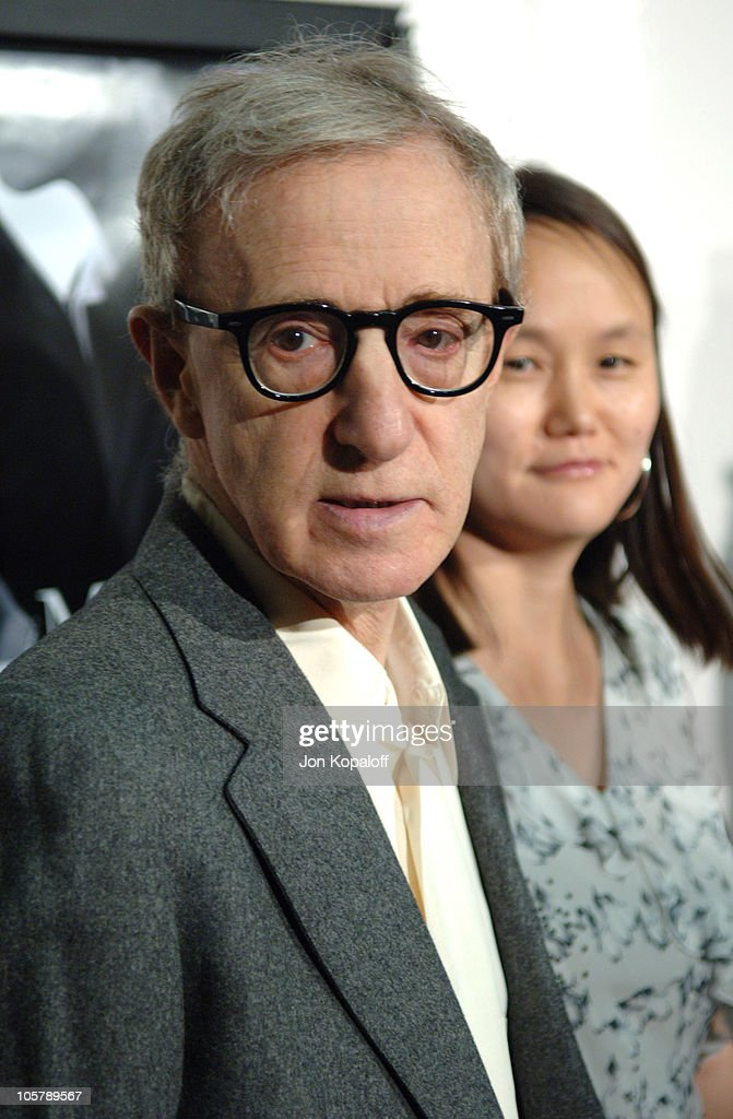 Woody Allen and Soon-Yi Previn during DreamWorks Pictures' 'Match Point' Los Angeles Premiere - Red Carpet at LACMA in Los Angeles, California, United States.