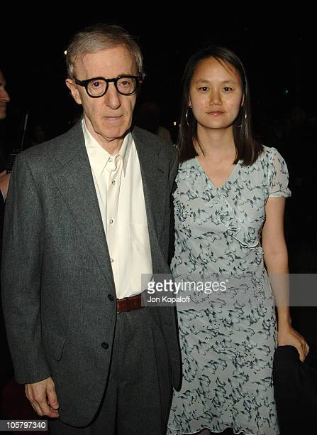 """Woody Allen and Soon-Yi Previn during DreamWorks Pictures' """"Match Point"""" Los Angeles Premiere - Red Carpet at LACMA in Los Angeles, California,..."""