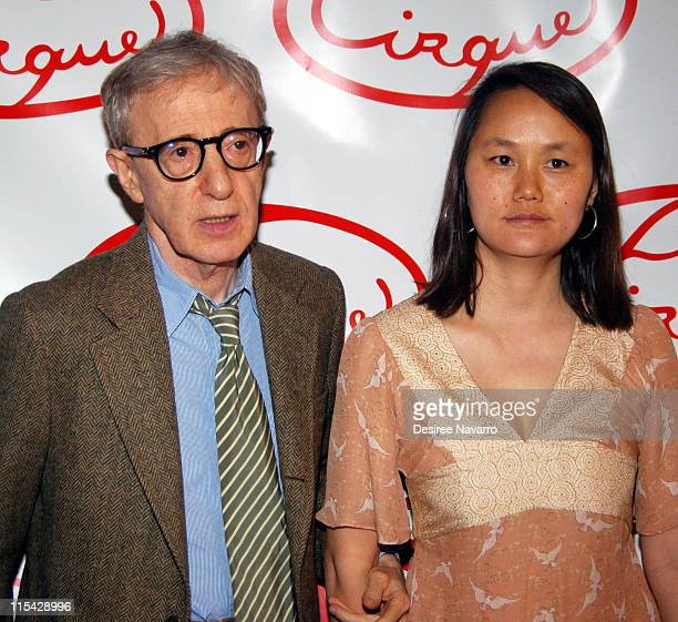 Woody Allen and SoonYi Previn during Le Cirque Opening Party at One Beacon Court at One Beacon Court in New York City New York United States