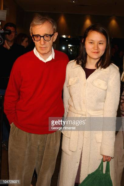 """Woody Allen and Soon-Yi Previn during Toronto Premiere """"Hollywood Ending"""" at Varsity Theatre in Toronto, Ontario, Canada."""