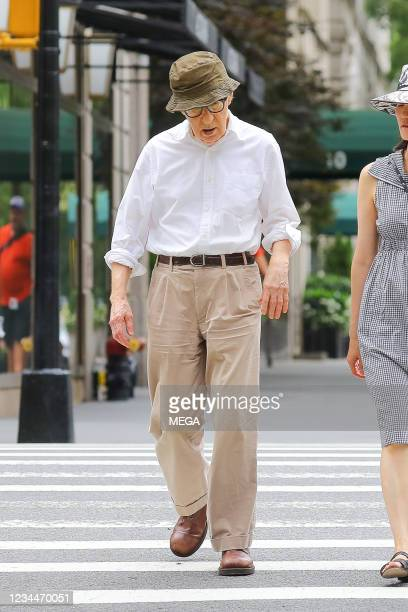 Woody Allen and Soon-Yi Previn spotted walking on August, 2021 in New York City, New York.