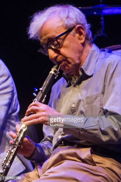 Woody Allen and The Eddy Davis New Orleans in concert at Teatro Degli Arcimboldi in Milano, Italy, on June 28 2019