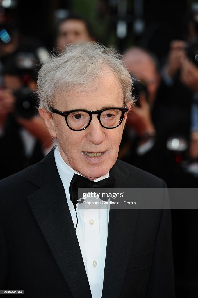 Woody Allen at the Premiere for 'You will meet a tall dark stranger' during the 63rd Cannes International Film Festival.
