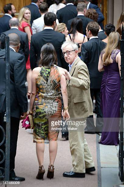 Woody Allen attends Alec Baldwin and Hilaria Thomas' wedding ceremony at St Patrick's Old Cathedral on June 30 2012 in New York City