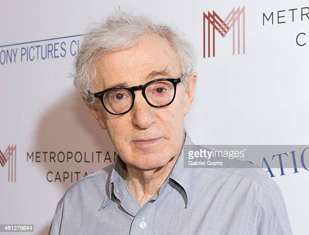Woody Allen attends the Chicago premiere of Irrational Man at Bellweather Meeting House Eatery on July 18 2015 in Chicago Illinois