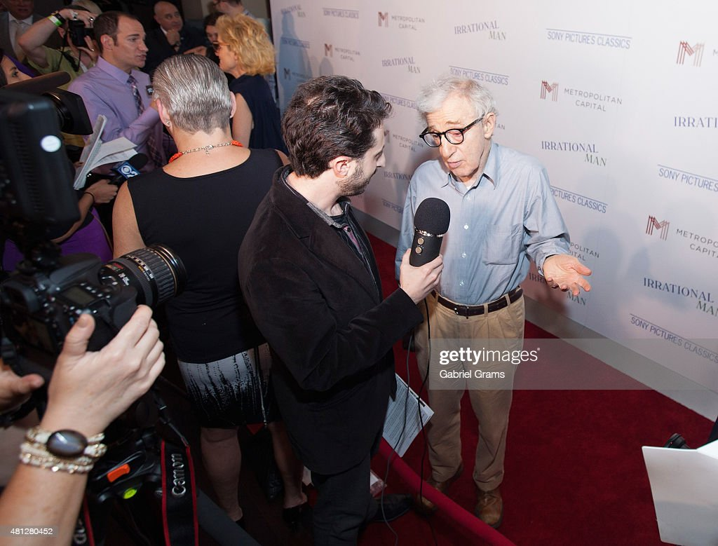 Woody Allen attends the Chicago premiere of 'Irrational Man' at Bellweather Meeting House & Eatery on July 18, 2015 in Chicago, Illinois.