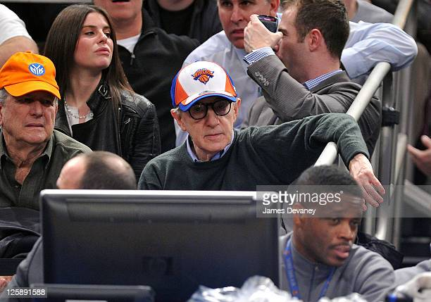 Woody Allen attends the Dallas Mavericks vs New York Knicks game at Madison Square Garden on February 2 2011 in New York City