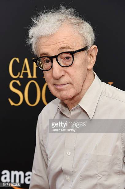 Woody Allen attends the premiere of 'Cafe Society' hosted by Amazon Lionsgate with The Cinema Society at Paris Theatre on July 13 2016 in New York...