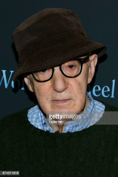 Woody Allen attends the premiere of Wonder Wheel at Museum of Modern Art on November 14 2017 in New York City