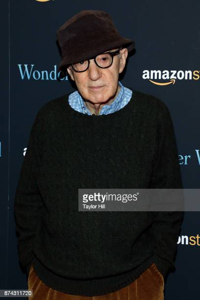 Woody Allen attends the premiere of 'Wonder Wheel' at Museum of Modern Art on November 14 2017 in New York City