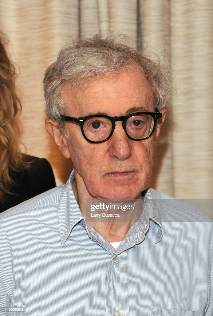 Woody Allen attends the 'To Rome With Love' Press Conference on June 19, 2012 in New York City.
