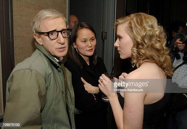 Woody Allen, director, Soon-Yi Previn and Scarlett Johansson