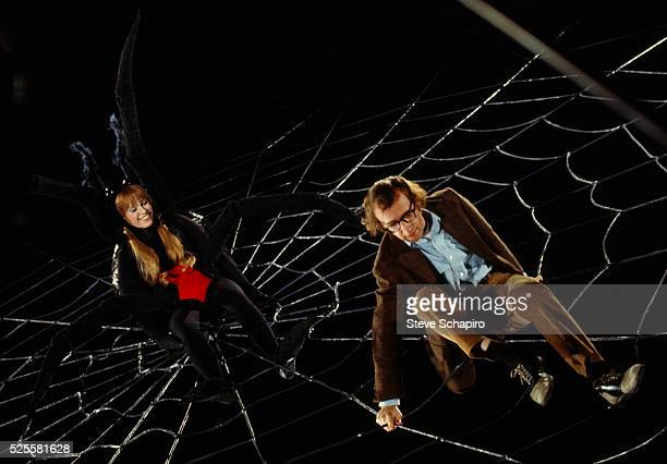 Woody Allen directs Louise Lasser who is dressed as a spider in a scene from Everything You Wanted to Know About Sex But Were Afraid to Ask