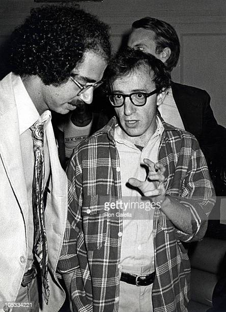 Woody Allen during Carter Burden Party Hosted By Woody Allen at Studio 54 in New York City New York United States