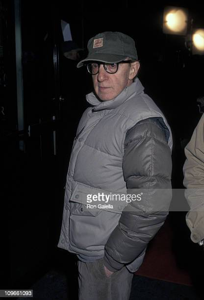 Woody Allen during On the Set of Woody Allen's 'Celebrity' October 23 1997 at Ziegfeld Theater in New York City New York United States