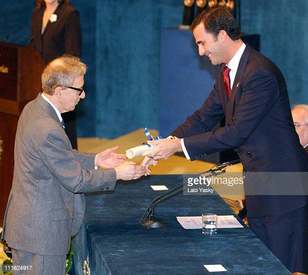Woody Allen is presented with the Prince of Asturias Award for the Arts by Prince Felipe of Spain