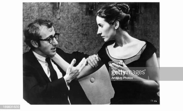 Woody Allen is seduced by Andrea Marcovicci in a scene from the film 'The Front' 1976