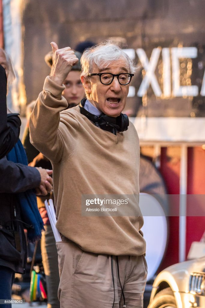 Woody Allen is seen on set of his new Untitled Movie on September 11, 2017 in New York, New York.