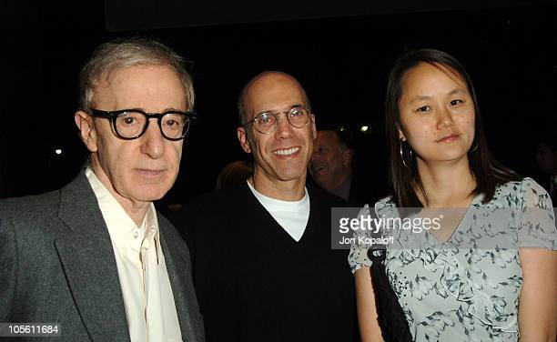 Woody Allen, Jeffrey Katzenberg and Soon-Yi Previn