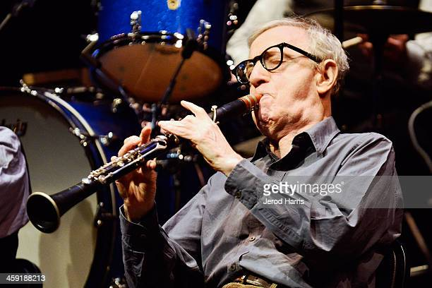 Woody Allen performs with his New Orleans jazz band at Royce Hall UCLA on December 23 2013 in Westwood California