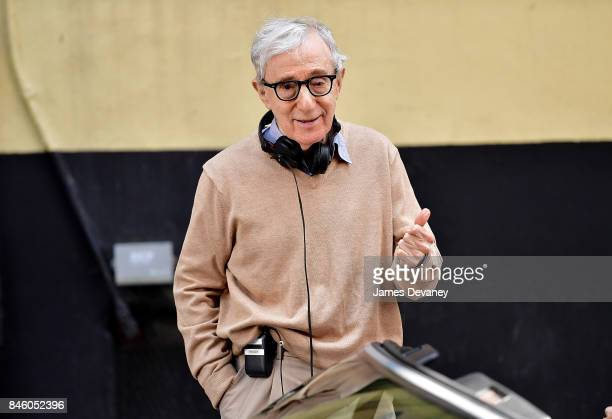 Woody Allen seen on location for his untitled movie on September 11 2017 in New York City