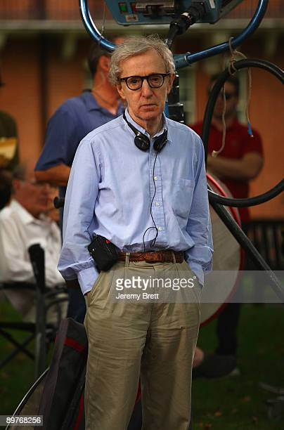 Woody Allen seen on set during filming for his latest film currently entitled Wasp 09 in Mayfair on August 13 2009 in London England