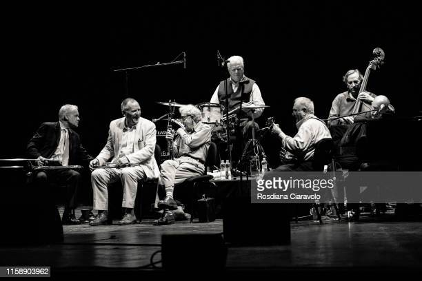 Woody Allen & The Eddy Davis New Orleans Jazz Band perform at Teatro degli Arcimboldi on June 28, 2019 in Milan, Italy.
