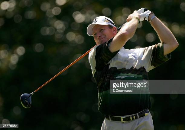 Woody Austin plays the 5th hole during the third round of the TOUR Championship, the final event of the new PGA TOUR Playoffs for the FedExCup at...
