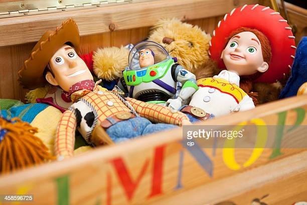 woody, buzz and jessie of toy story - disney stock pictures, royalty-free photos & images