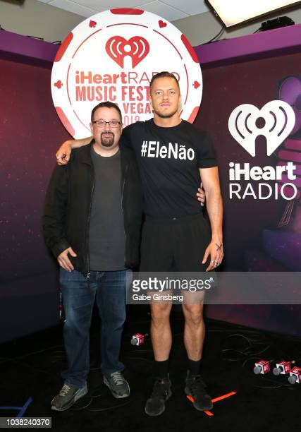 Woody Fife and Dan Reynolds attend the 2018 iHeartRadio Music Festival at TMobile Arena on September 22 2018 in Las Vegas Nevada
